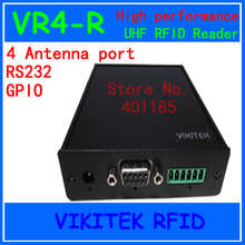 VIKITEK VR4-R Hig performance 915MHZ UHF RFID reader 4 antenna port  fixed Reader for warehouse and logistic and production line