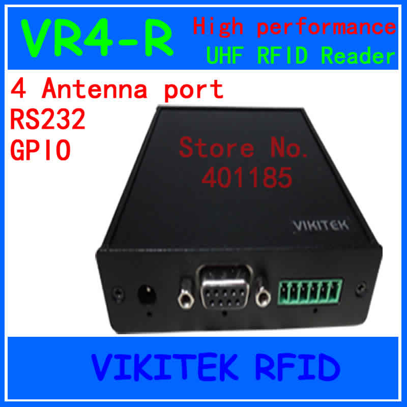 UHF RFID reader Hig performance 915MHZ R2000 VIKITEK VR4-R 4 antenna port fixed Reader for warehouse logistic production line as19 h1g as19 hig