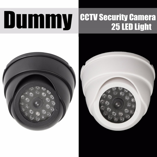 NEW Fake Dummy CCTV Security Camera 25 LED Light IR Color Surveillan Indoor Outdoor