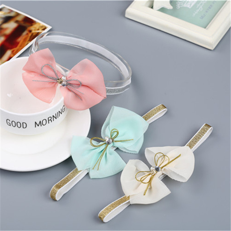 Newborn Baby Infant Girl Chiffon Bowknot Headband Hair Band HeadWear Photo Props
