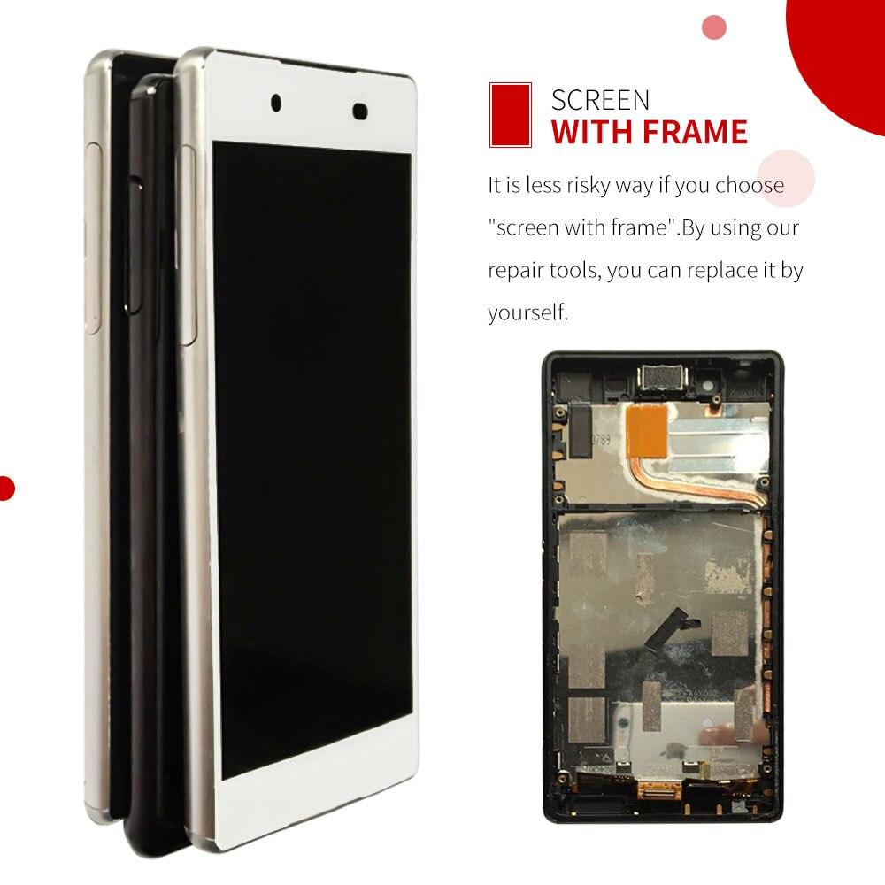 5.2 Écran Tactile Pour Sony Xperia Z3 Plus Z4 E6533 E6553 LCD Affichage Digitizer Capteur Remplacement Assemblée Panneau de Verre avec cadre