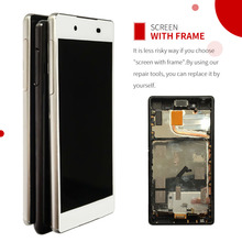 5.2 Touch Screen For Sony Xperia Z3 Plus Z4 E6533 E6553 LCD Display Digitizer Sensor Glass Panel Assembly Replacement with Frame