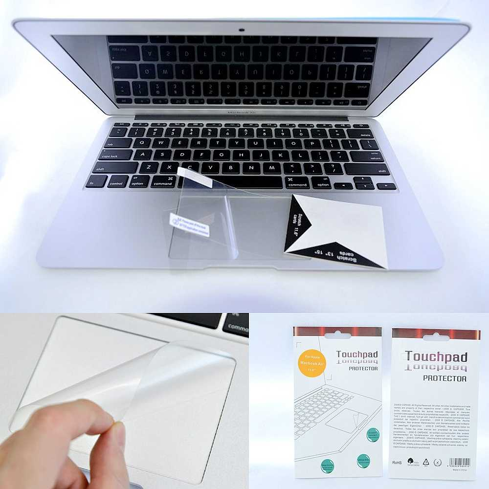 Accessoires d'ordinateur portable Clavier Touchpad Film Transparent Autocollant De Protection Pour Apple Mac Macbook Air 11 12 Pro Retina 13 15 peaux