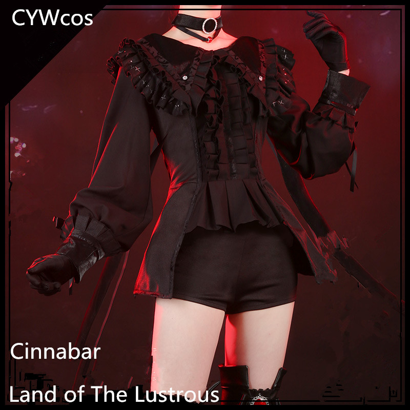 Houseki No Kuni Cosplay Cinnabar Month's Costume Gothic Lolita Cosplay Costume Summer Uniforms Costume