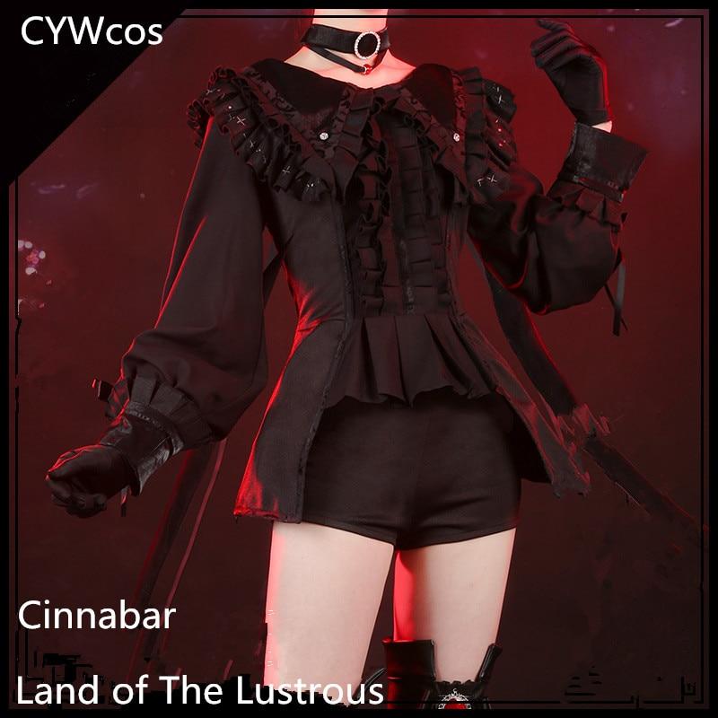 Houseki No Kuni Cosplay Cinnabar Month's Costume Gothic Lolita Cosplay Costume Summer Uniforms Costume