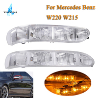 For Mercedes Benz W220 W215 Side Door Mirror LED Turn Signal Light Blinker Indicator Light Lamp CL S Class 2003 2006 WISENGEAR /