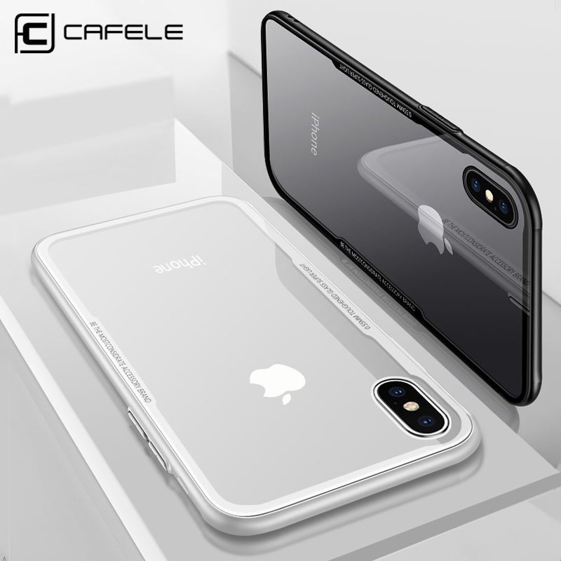 CAFELE Original Case For iPhone Xr Xs Max soft TPU edge Tempered Glass Ultra Thin Transparent Glass Back Cover For iPhones Xs Xr iPhone XR