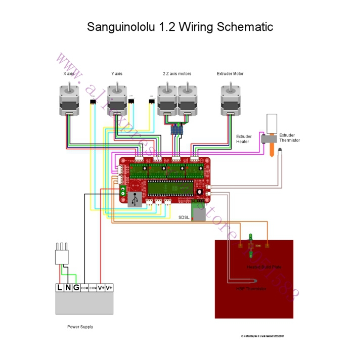 3d printer reprap sanguinololu ver1 3a control board for replacing ramps  free shipping-in 3d printer parts & accessories from computer & office on
