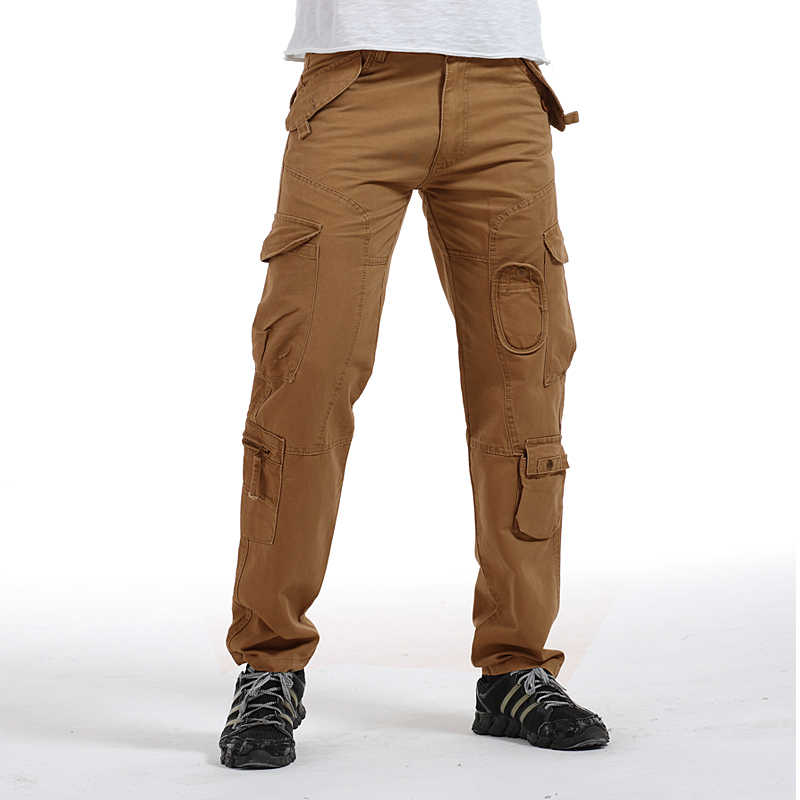 e326261db60fa ... Tactical Pants Male Camo Jogger Casual Plus Size Cotton Trousers Multi Pocket  Military Style Army Camouflage ...