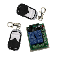 DC 24V 4CH RF Wireless Remote Control System Teleswitch 2 Transmitter And 1 Receiver Universal Gate