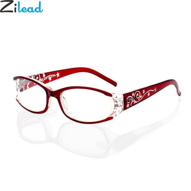 Zilead Luxury Lady Rhinestone Anti-Radiation Reading Glasses Women Anti-Fatigue Presbyopia Glasses for Female+1.0...+4.0 Fashion