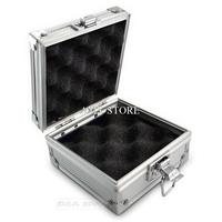 Pro Aluminium Tattoo Machine Foam Paded Box Case For Storage Display Machine Gun