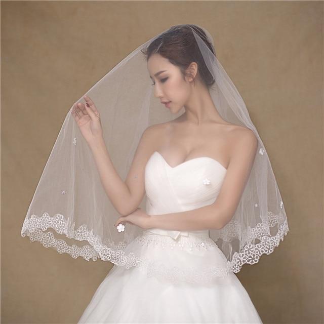 Soft Tulle Bridal Veils 2016 One Layer 1 5M Appliques Wedding Veils White Wedding Veil Western.jpg 640x640 - Western Wedding Veils