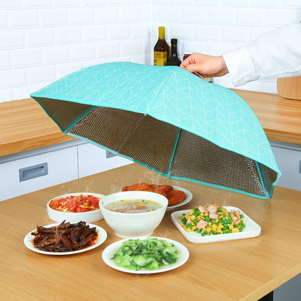 Us 6 17 26 Off Foldable Food Insulation Cover Aluminum Foil Heat Preservation Kitchen Tools Hot Kichen Accessories Kichen Tool Chalumeau Cuisin In