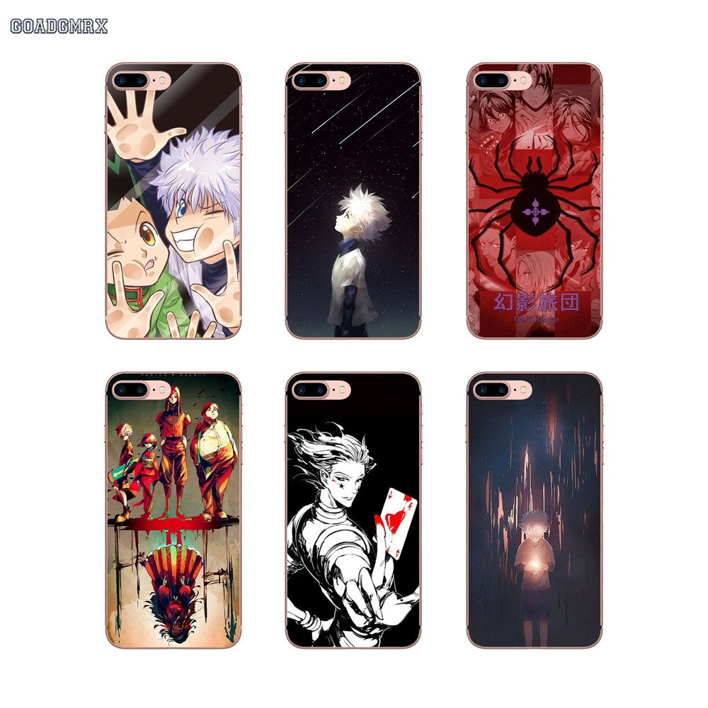 Us 099 Hunter X Hunter Killua Hisoka Soft Transparent Cases Covers For Iphone 6 6s 7 8 Plus X Xs Max Xr 4 4s 5 5s Se 5c In Half Wrapped Cases From