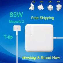 100% Новинка! 20 V 4.25A 85 W Ноутбук MagSaf * 2 Мощность адаптер Зарядное устройство для Apple Macbook Pro retina 15 »17» A1398 A1424
