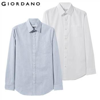 f7dc43aba Giordano los hombres Camisa de manga larga Camisas Casual 2-Paquete de  algodón-de camisas para hombres Slim Fit Camisa Masculina blanco Blusa  camisa