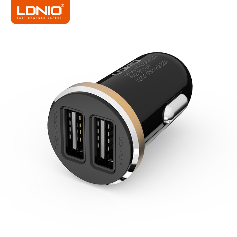 LDNIO 5V 2.1A USB Charger Travel Adapter Portable Smart Mobile Phone Charger with USB Cable White Black Available
