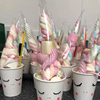 Unicorn Cone Bags 50pcs Cellophane Triangle-Shaped Treat Bags with Twist Ties Snacks Candy Sauce-jam Birthday party decor kids