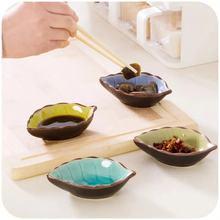 Кухня многоцелевой японский стиль креативная приправа блюдо керамический маленький лист блюдо соленые соус, уксус посуда под закуски