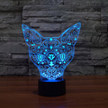 New Style Animal 3D Table Lamp Atmosphere Lighting Floral Cat LED Color Change Touch Control Night Light Home Decor Xmas Gift