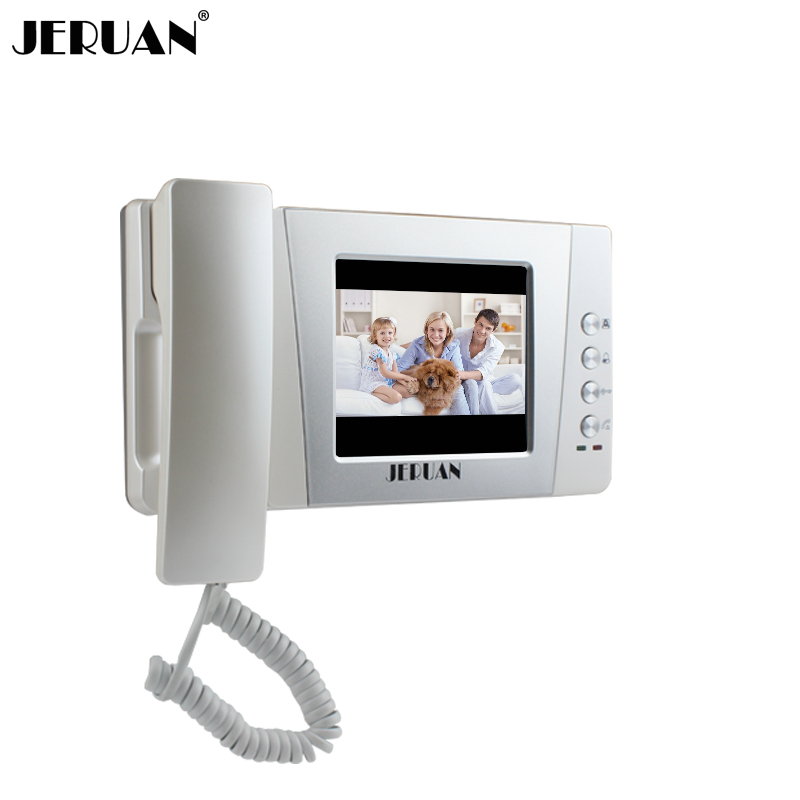 JERUAN 4 3 inch video door phone color doorphone indoor only intercom power adapter free shipping