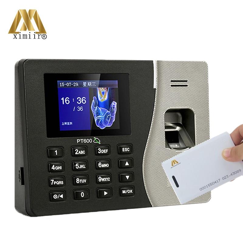 Cheapest Fingerprint Time Attendance PT600 Fingerprint Recognition Time And Attendance 125MHZ ID Card Time Recording