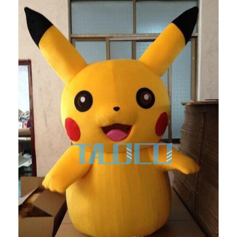 Pikachu Pokemon Adult Mascot Costume Hot sale 2019 Cartoon Character Fancy Dress Costume