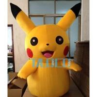 Hot sale 2017 Cartoon Character Pikachu Pokemon Adult Mascot Costume Fancy Dress Costume