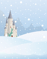 Thin Fabric Cloth Printed Photography Background Children S Castle Backdrop 5ft X 7ft D 743