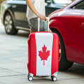 Канада/Италия/Швейцария/Франция Флаг Камера Охватывает '-' Упругой Чемодан Перемещения Тележки Пыле Водонепроницаемый Протектор