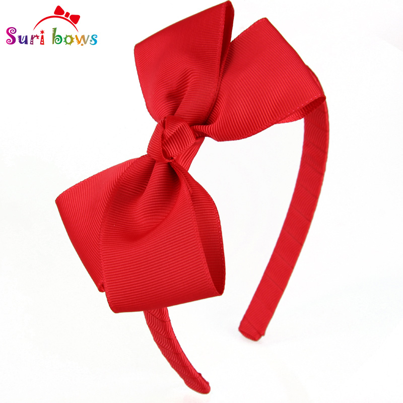 1 piece Suri bows Lovely Hairband 30 Colors Solid Ribbon Hairbow Hair Bands For  Girl Ribbon Band Kids Hair Accessories FS011 10pcs lot high quality hair band with grosgrain ribbon flower for girls handmade flower hairbow hairband kids hair accessories