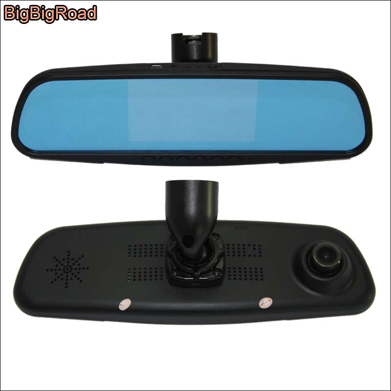 BigBigRoad For citroen C4L C5 front mirror DVR + rear view camera video recorder dashcam parking monitor fhd 1080p G-sensor