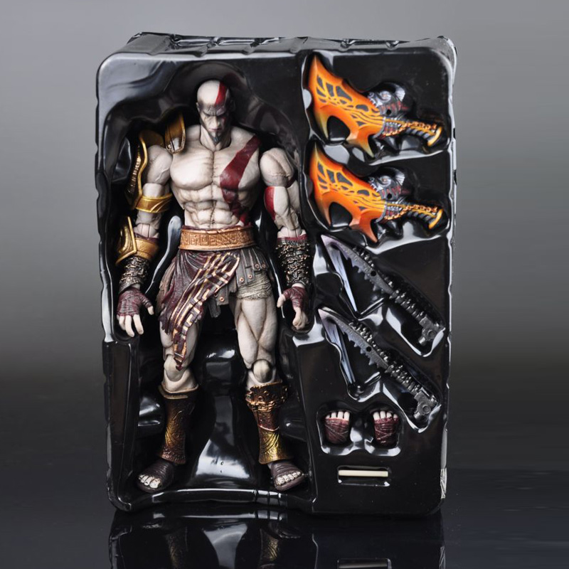 SQUARE ENIX Play Arts KAI God of War Kratos PVC Action Figure Collectible Model Toy 22cm KT1785 playarts kai god of war kratos pa kai figure collectible model toy with box