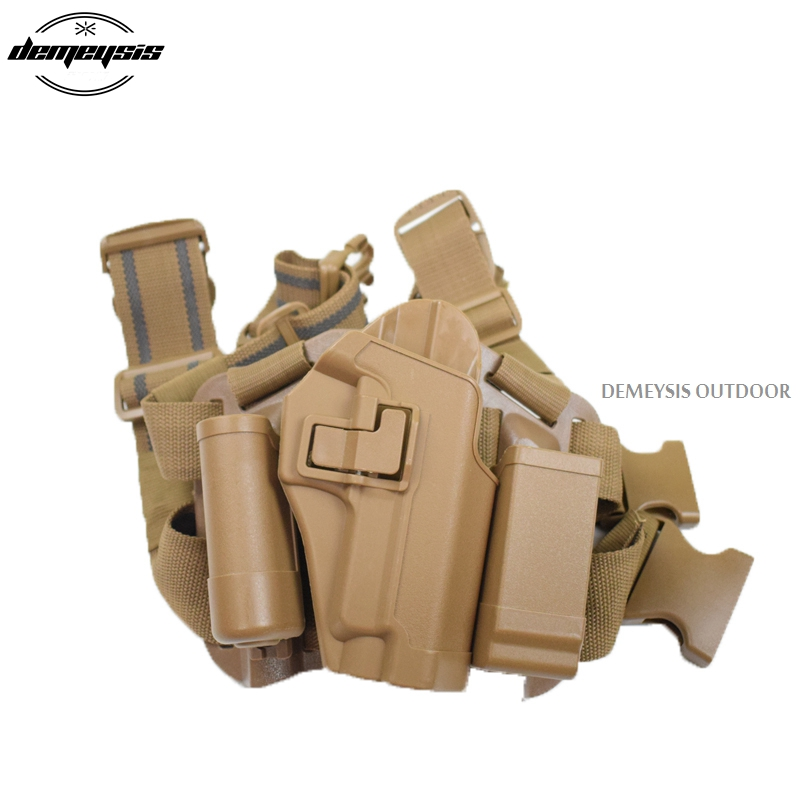 Slippers W/ Mag Flashlight Pouch Platform Drop Leg Holster For Sig 220 228 229 Lv3 Sig P226 Holster Serpa Ver