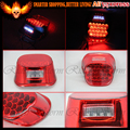 FL RED lens tail brake LED light for Harley Davidson motorcycle stop lamp XL FX lo Sportster 883 Low XL883L Custom XL883C