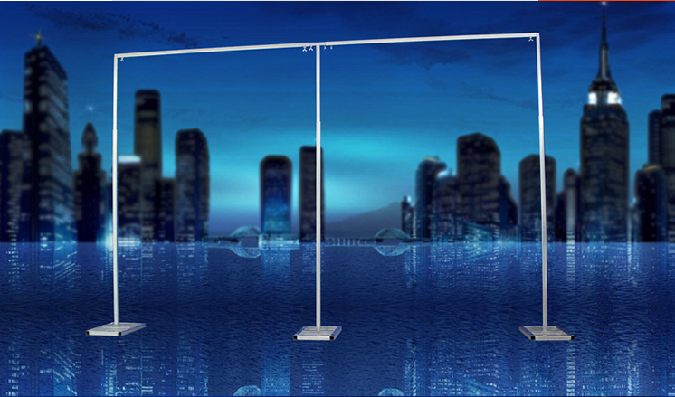 2set 10ftx20ft Stage Background Adjustable Pipe Stainless Steel Wedding Curtain Backdrop Stand