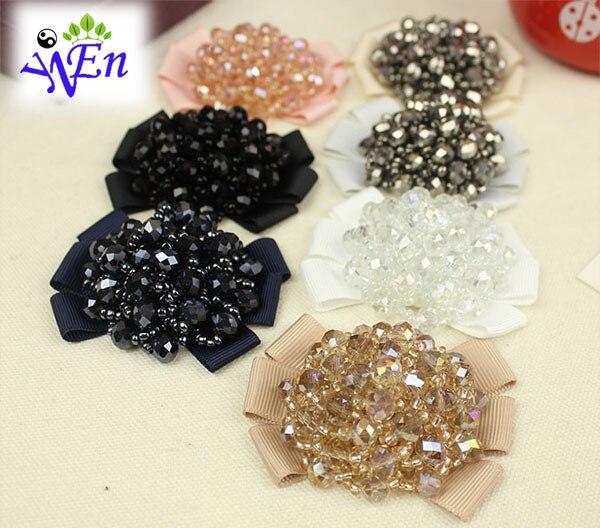 mesh shoes clips decorative shop Shoe accessories shoe clip toe cap fabric buckle crystal charm material N583