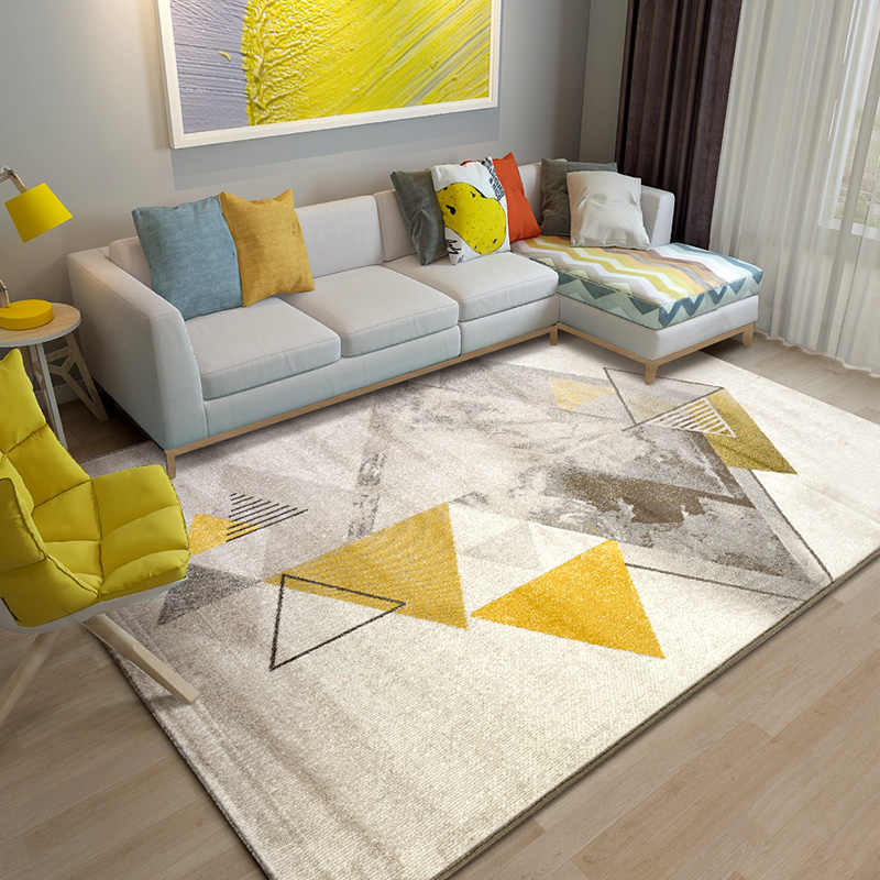 Modern Geometric Carpet Living Room Thick Bedroom Carpet Sofa