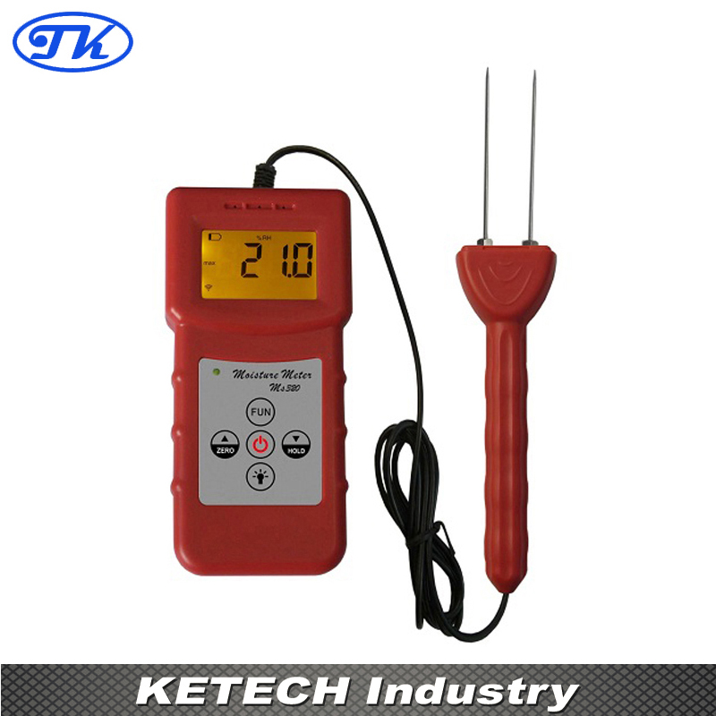 Digital Tobacco Moisture Meter MS320 fiber materials wooden articles tobacco cotton paper building soil and other fibre materials digital wood moisture meter mc7806