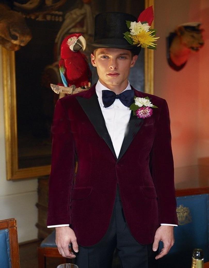 New Design Wedding Dress Slim Fit Mens Suits Tuxedo Jacket 2 Pieces ...