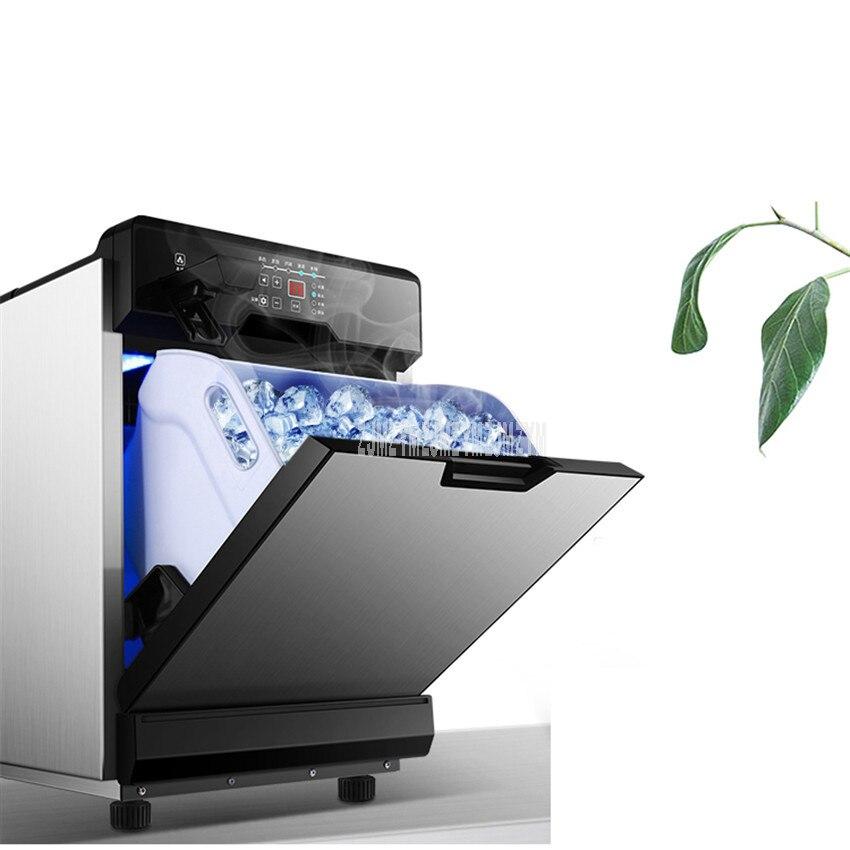 25KG/24H Intelligent Automatic Ice Making Machine Commercial Milk Tea Shop Coffee Bar Electric Ice Maker Machine GD-MNZBJ-11