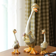 Resin crafts Duck Household mascot children's bedroom home decoration children's gift Furnishing articles