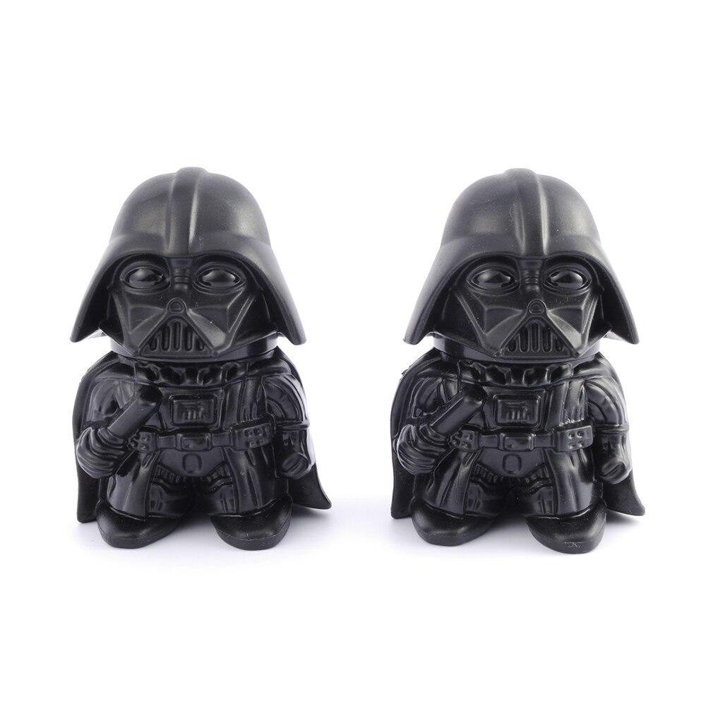 GERUI Star Wars Darth Vader forma hierba amoladora de aleación de Zinc de diseño creativo diente triturador de tabaco para cigarrillo fumar Red de pesca plegable para secado de hierbas con cremalleras, secador de malla, bandeja de secado, colgador de flores, red de pesca, herramienta de accesorios