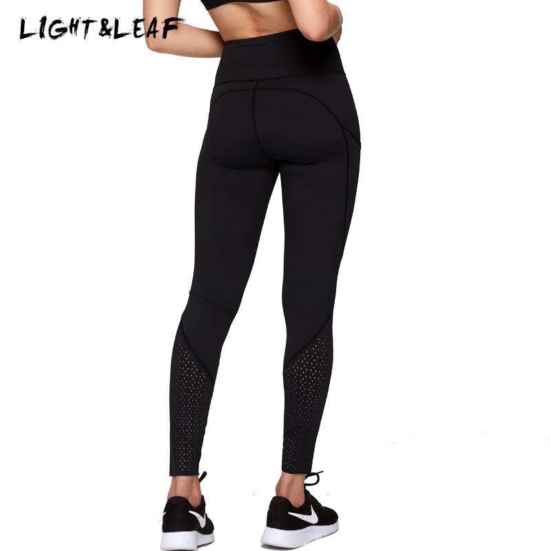 Light&leaf Leggings Women Workout Gyms Lycra Casual High Waist Leggings New Fashion Casual Girls Brand Quality Hole Leggings