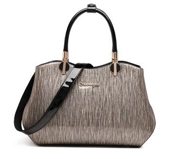 ICEV new brand luxury handbags women leather handbag fashion solid ladies office work bag striped shoulder clutches sac a main