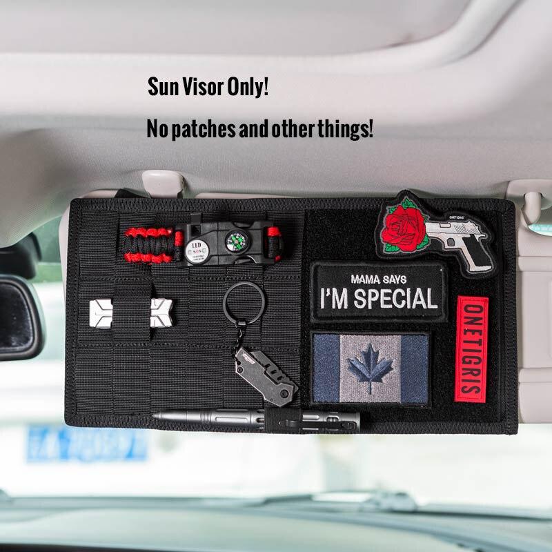 OneTigris Multi-poche Visière Panneau De Voiture Pare-Soleil Organisateur CD Sac Auto Accessoires Pour Les Kits De Voyage