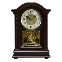 Eastar 8025 High Quality Wooden European Antique style Music Hourly Chiming Quartz Clock Desktop Bed Room Parlour Table Clock
