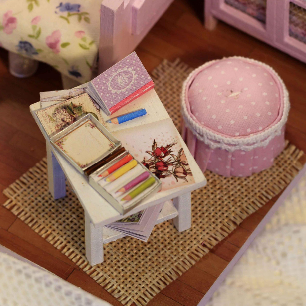 3D DIY Model Wooden Doll House Toy Sweet Sunshine For Birthday ...