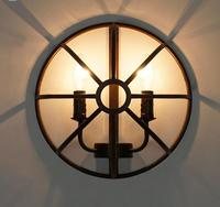 Nordic Iron Industrial retro wall lamp study bedroom living room wall lamp hallway entrance cafe Light GY239